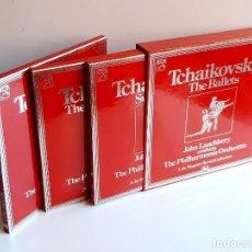 Discos de vinilo: TCHAIKOVSKY THE BALLETS - ALBUM 8 VINILOS + LIBRETOS. Lote 211495012