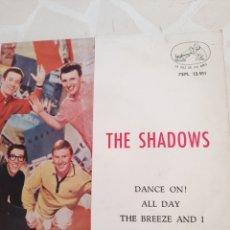 Discos de vinilo: THE SHADOWS. DANCE ON . EP. Lote 211497251