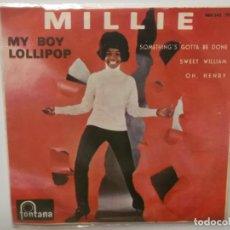 Discos de vinilo: MILLIE-MY BOY LOLLIPOP-ORIGINAL ESPAÑOL 1964. Lote 211503967
