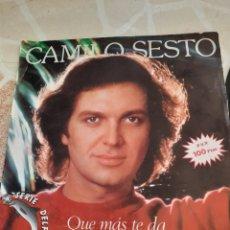 Discos de vinilo: CAMILO SESTO. QUE MÁS TE DA.. Lote 211507301