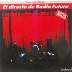 Discos de vinilo: EL DIRECTO DE RADIO FUTURA-ESCUELA DE CALOR-DOBLE LP-CONTIENEN ENCARTES. Lote 211508115