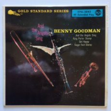 Discos de vinilo: BENNY GOODMAN AND HIS ORCHESTRA – AND THE ANGELS SING GERMANY 1958 RCA VICTOR. Lote 211508895