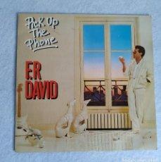 Discos de vinilo: F R DAVID SINGLE VINILO 45 RPM DISCO PICK UP THE PHONE 1982. Lote 211510307