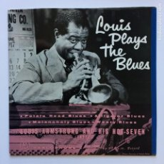 Discos de vinilo: LOUIS ARMSTRONG AND HIS HOT SEVEN – LOUIS PLAYS THE BLUES UK 1958 PARLOPHONE. Lote 211510576