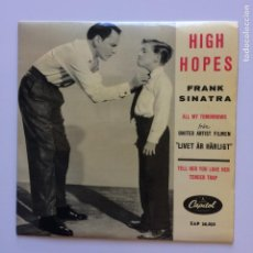 Discos de vinilo: FRANK SINATRA – HIGH HOPES SCANDINAVIA 1959 CAPITOL RECORDS. Lote 211512197
