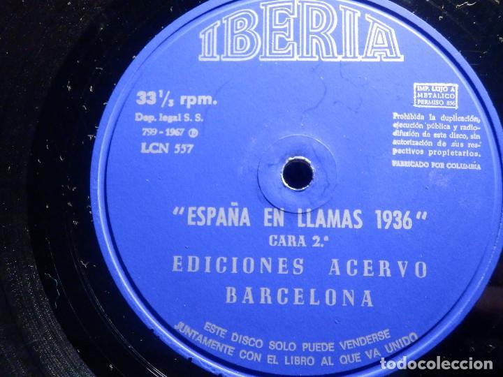 Discos de vinilo: 2 VINILOS - IBERIA - ESPAÑA EN LLAMAS - EDICIONES ACERVO - BARCELONA 1967 - Foto 2 - 211521656