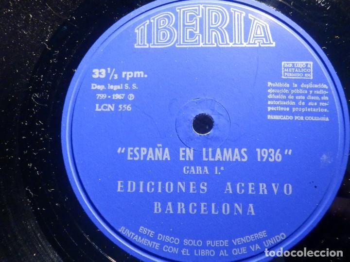 Discos de vinilo: 2 VINILOS - IBERIA - ESPAÑA EN LLAMAS - EDICIONES ACERVO - BARCELONA 1967 - Foto 3 - 211521656