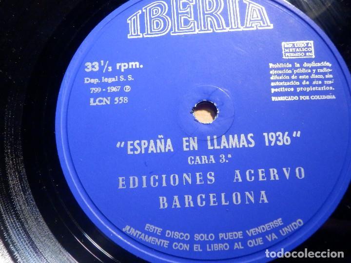 Discos de vinilo: 2 VINILOS - IBERIA - ESPAÑA EN LLAMAS - EDICIONES ACERVO - BARCELONA 1967 - Foto 4 - 211521656