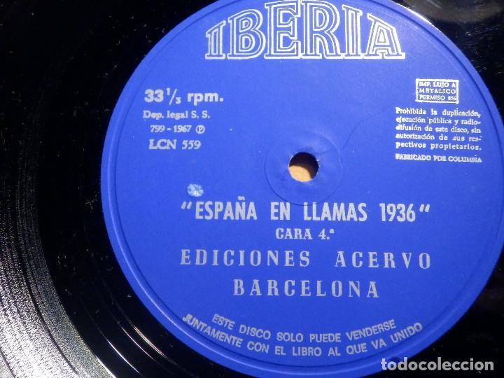 Discos de vinilo: 2 VINILOS - IBERIA - ESPAÑA EN LLAMAS - EDICIONES ACERVO - BARCELONA 1967 - Foto 5 - 211521656