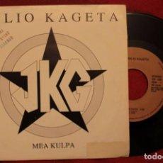 """Discos de vinilo: 7"""" JULIO KAGETA - MEA KULPA / BALORETAKO ESKALA - SINGLE - 1991 - GOR GS-503 (VG+/EX-). Lote 211522095"""
