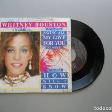 Discos de vinilo: WHITNEY HOUSTON – SAVING ALL MY LOVE FOR YOU SINGLE 1985 VG++/VG++. Lote 211524702