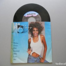 Discos de vinilo: WHITNEY HOUSTON ‎– I WANNA DANCE WITH SOMEBODY (WHO LOVES ME) - SINGLE 1987 EX/VG+. Lote 211524926