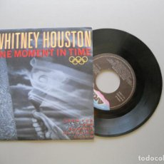 Discos de vinilo: WHITNEY HOUSTON ‎– ONE MOMENT IN TIME SINGLE 1988 VG++/VG++. Lote 211524976