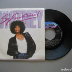 Discos de vinilo: WHITNEY HOUSTON – SO EMOTIONAL - SINGLE 1987 VG+/VG++. Lote 211525066