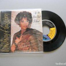 Discos de vinilo: WHITNEY HOUSTON – ALL THE MAN THAT I NEED SINGLE 1990 VG+/VG+. Lote 211525164