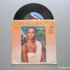 Discos de vinilo: WHITNEY HOUSTON ‎– YOU GIVE GOOD LOVE SINGLE 1985 VG++/VG++. Lote 211525312