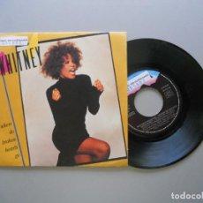 Discos de vinilo: WHITNEY HOUSTON – WHERE DO BROKEN HEARTS GO SINGLE 1988. Lote 211525374