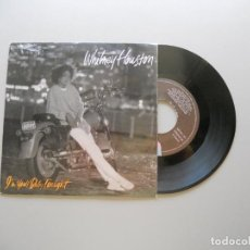Discos de vinilo: WHITNEY HOUSTON – I'M YOUR BABY TONIGHT - SINGLE 1990 VG++/VG++. Lote 211525405