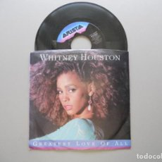 Discos de vinilo: WHITNEY HOUSTON ‎– GREATEST LOVE OF ALL SINGLE 1986 VG+/VG++ USA EDITION. Lote 211525429
