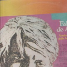 Discos de vinilo: LP FABRIZIO DE ANDRE CARLO MARTELLO RITORNA DALLA BATTAGLIA DI POITIERS FONTANA SPECIAL 1968. Lote 211527255