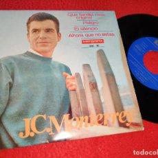 Discos de vinilo: J. C. MONTERREY EL SILENCIO/AHORA QUE NO ESTAS/PELIGRO/QUE FAMILIA MAS ORIGINAL EP 1965 VERGARA. Lote 211529966