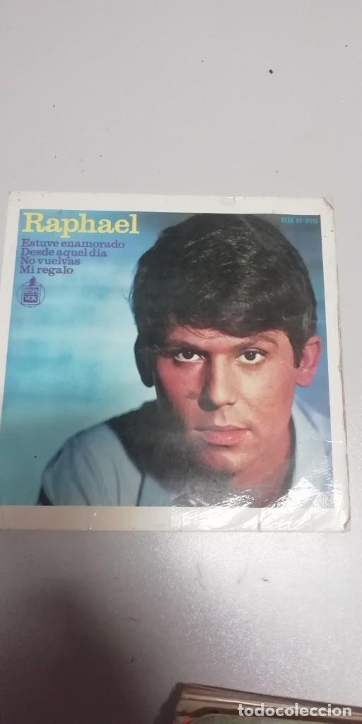 SINGLE RAPHAEL (EP. 1966) ESTUVE ENAMORADO - DESDE AQUEL DIA - NO VUELVA - MI REGALO (Música - Discos de Vinilo - EPs - Solistas Españoles de los 50 y 60)
