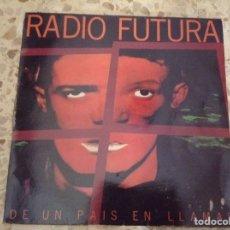 Discos de vinilo: RADIO FUTURA - DE UN PAÍS EN LLAMAS - VINILO LP 1985. Lote 211558907