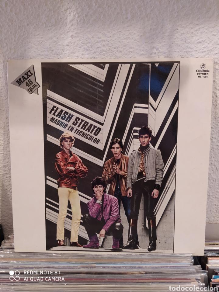 FLASH STRATO-MADRID EN TECNICOLOR . MAXI 1983 - VINILO BUEN ESTADO - (Música - Discos de Vinilo - Maxi Singles - Grupos Españoles de los 70 y 80)