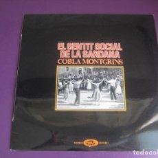 Discos de vinilo: COBLA MONTGRINS – EL SENTIT SOCIAL DE LA SARDANA LP MOVIEPLAY 1976 - FOLK CATALUÑA - SIN ESTRENAR. Lote 211574119