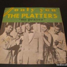 Discos de vinilo: THE PLATTERS SINGLE 45 RPM ONLY YOU MERCURY ESPAÑA 1968. Lote 211575420