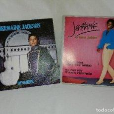 Discos de vinilo: LOTE 2 SINGLES JERMANIE JACKSON AÑOS 80 SPAIN TITULOS EN FOTOS, EN LIQUIDACION VER MAS INFORMACION. Lote 211576557
