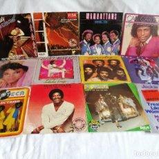 Discos de vinilo: LOTE 12 SINGLES MUSICA NEGRA AÑOS AÑOS 80 SPAIN EXCELENTE EN LIQUIDACION VER MAS INFORMACIÓN. Lote 211577700