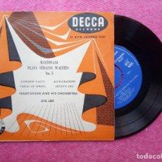 Discos de vinilo: EP MANTOVANI PLAY STRAUSS WALTZES NO 3 - DFE 6003 - UK PRESS (EX/NM). Lote 211580699