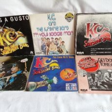 Discos de vinilo: LOTE 6 SINGLES K. C. THE SUNSHINE BAND AÑOS 80 COMO NUEVOS VER MAS INFORMACION. Lote 211580940