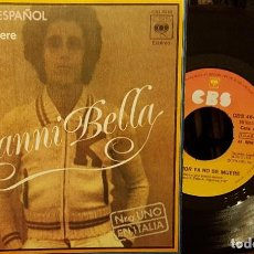 Discos de vinilo: GIANNI BELLA - CANTA EN ESPAÑOL - DE AMOR YA NO SE MUERE. Lote 211584376