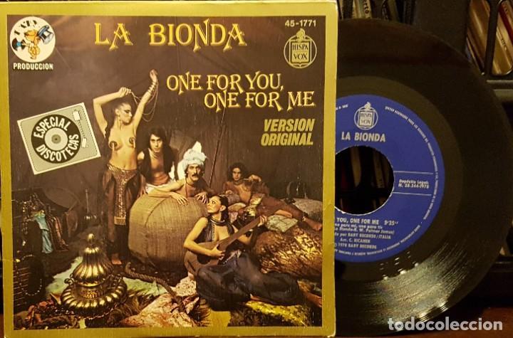 LA BIONDA - ONE FOR YOU - ONE FOR ME (Música - Discos - Singles Vinilo - Disco y Dance)