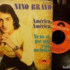 Disques de vinyle: NINO BRAVO - AMÉRICA. Lote 211588174