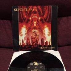 "Discos de vinilo: SEPULTURA - TERRITORY, SINGLE 12"". Lote 211590512"