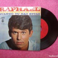 Discos de vinilo: EP RAPHAEL - QUANDO TU NAO ESTAS +3 - H 11110 - EP PORTUGAL PRESS (EX-/VG++). Lote 211592871