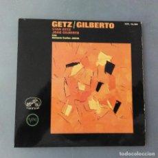 Discos de vinilo: GETZ / GILBERTO & ANTONIO CARLOS JOBIM ?– THE GIRL FROM IPANEMA EP LA VOZ DE SU AMO ?– 7EPL14.104. Lote 211593324