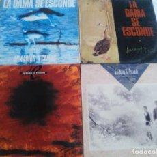 Discos de vinil: LOTE 4 LPS ORIGINALES.LA DAMA SE ESCONDE.ARMARIOS Y CAMAS/VESTRUCES/LEJOS DEL PUERTO/LA TIERRA DE.... Lote 211596667