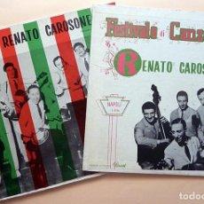 Discos de vinilo: RENATO CAROSONE - BUON DIVERTIMENTO + FESTIVALE DI CANZONI - 2 LP - ODEON / PANART (CUBA) - 1958. Lote 211601755