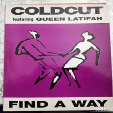 "Discos de vinilo: COLDCUT FEATURING QUEEN LATIFAH-FIND A WAY(12"")1990.AHEAD OF OUR TIME, BIG LIFE CCUT 8T.VINILO NUEVO. Lote 211602956"