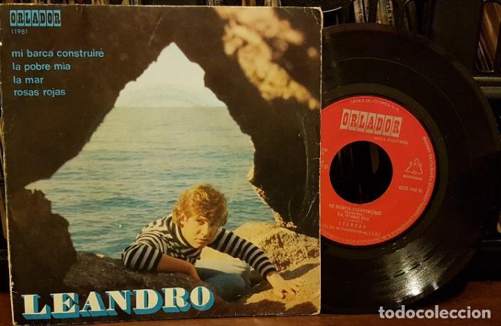 LEANDRO - MI BARCA CONSTRI¡UIRE (Música - Discos de Vinilo - EPs - Solistas Españoles de los 70 a la actualidad)