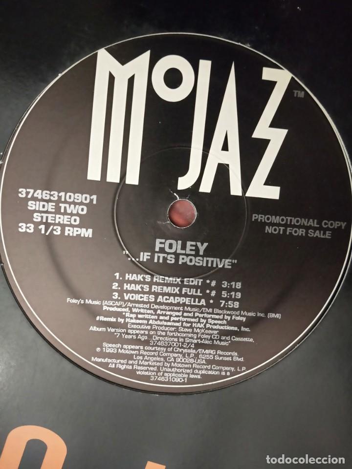 """Discos de vinilo: Foley - ... If Its Positive (12"""", Promo) 1993.Sello:MoJazz Cat. nº: 3746310901. VINILO NUEVO - Foto 4 - 211612086"""