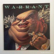 Discos de vinilo: WARRANT – DIRTY ROTTEN FILTHY STINKING RICH HOLANDA 1989 CBS. Lote 211614316