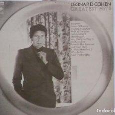 Discos de vinilo: LEONARD COHEN-GREATEST HITS-EDICION ESPAÑOLA-VINILO EN EXCELENTE ESTADO. Lote 211616962