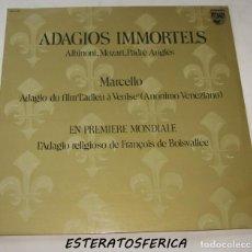 Discos de vinilo: ADAGIOS IMMORTELS. ALBINONI, MOZART, MARCELLO, PADRE ANGLÈS - PHILIPS 6511 001 - 1972. Lote 211617115