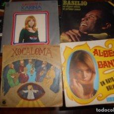 Discos de vinilo: LOTE 4 VINILOS SINGLES - ÚNICO PAQUETE - NO SE UNIFICA CON OTROS ARTÍCULOS -ENVÍO CERTIFICADO. Lote 211619806