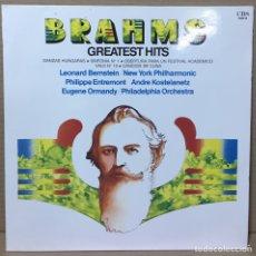 Discos de vinilo: LP BRAHMS - GREATEST HITS - DANZAS HÚNGARAS Y +. Lote 211620295